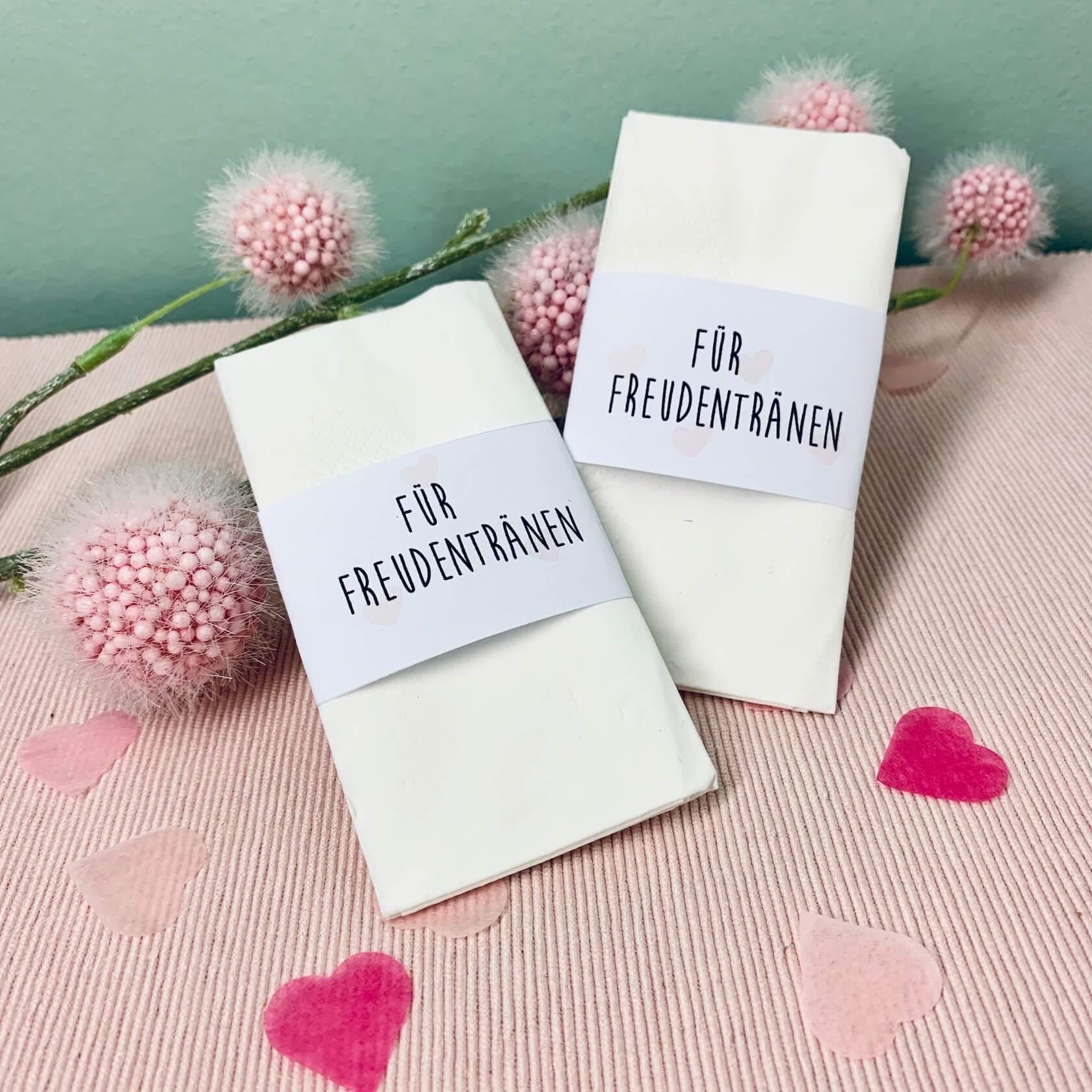 Hochzeit Freudentränen Taschentücher