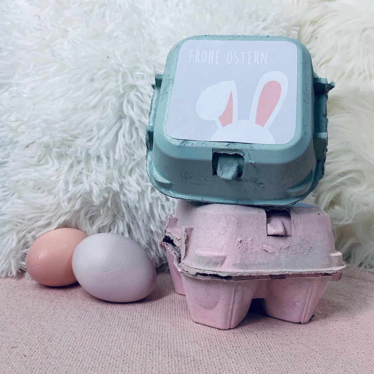 Eierkarton Upcycling als Osternest