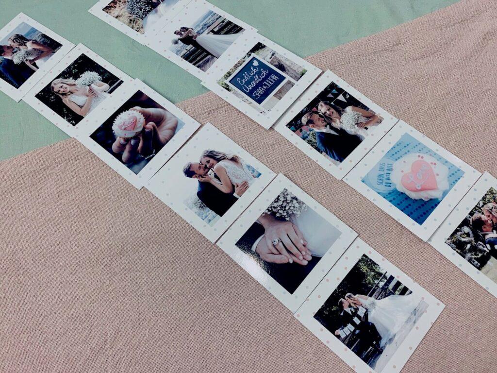 Fotos in richtiger Reihenfolge vor dem Zusammenkleben