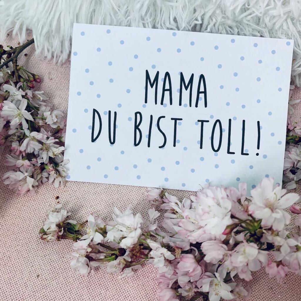 Muttertagskarte - Mama du bist toll