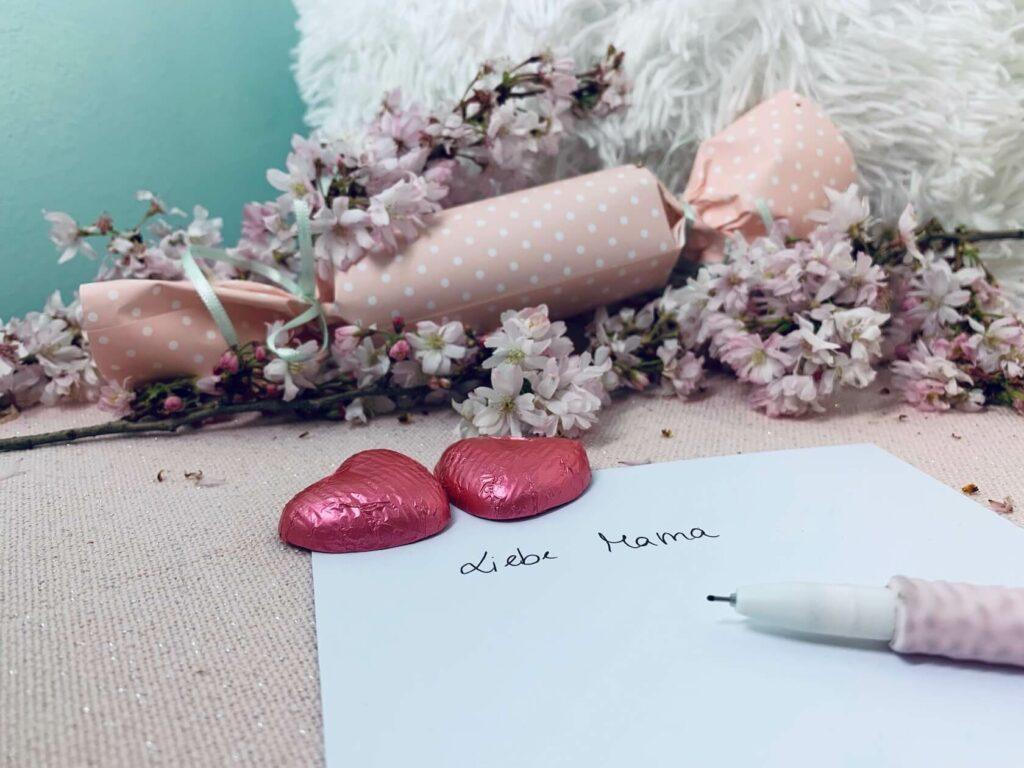 Brief für die Knallbonbons für den Muttertag