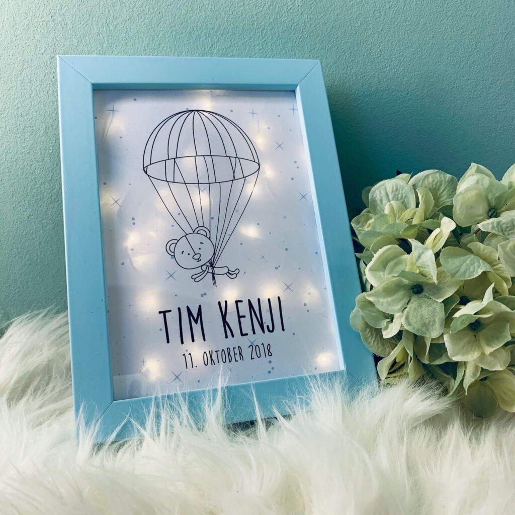 Geburtsgeschenk Bilderrahmen Lampe Sweet Up Your Life