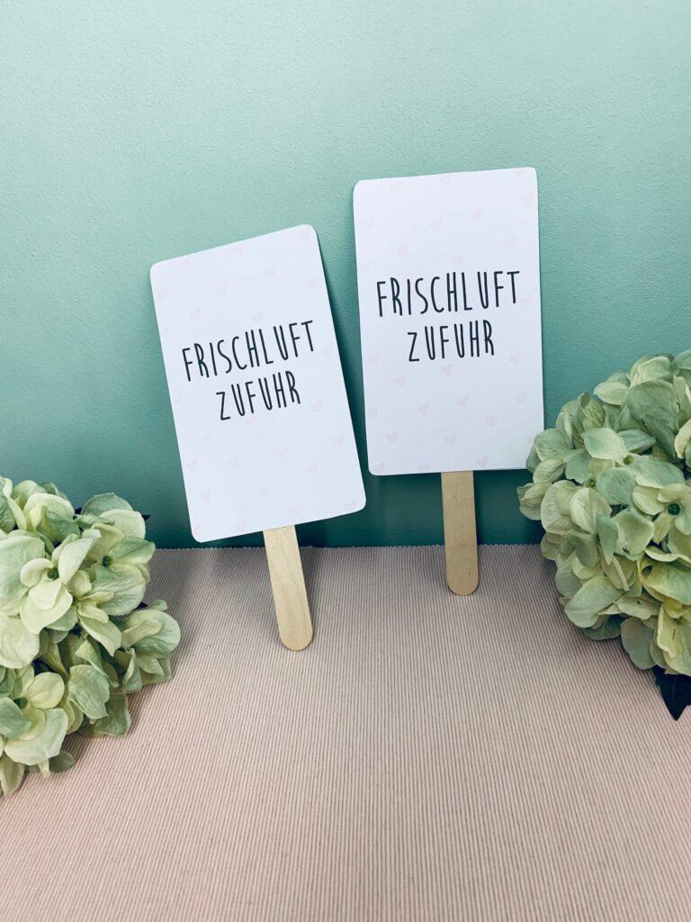 DIY Handfächer für die Hochzeit selber machen