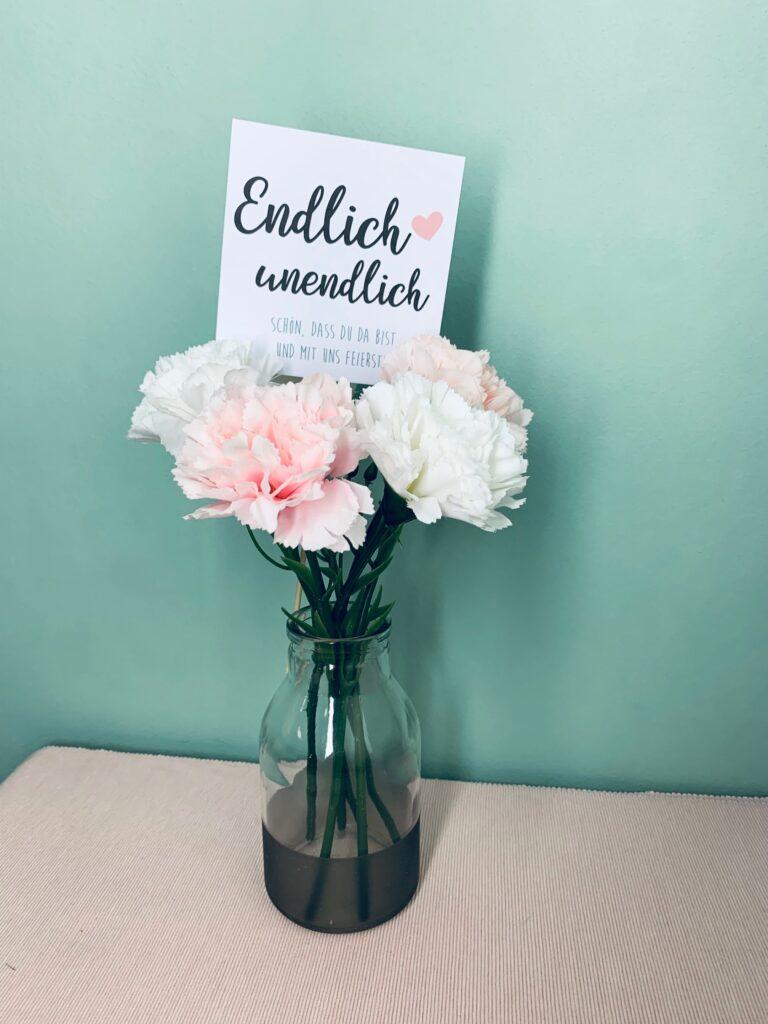 Hochzeit Stecker für Blumendeko selber machen