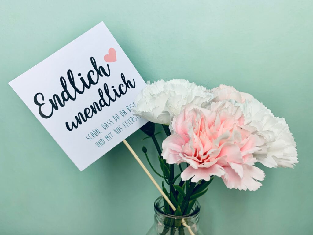 Hochzeit Blumendeko selber machen