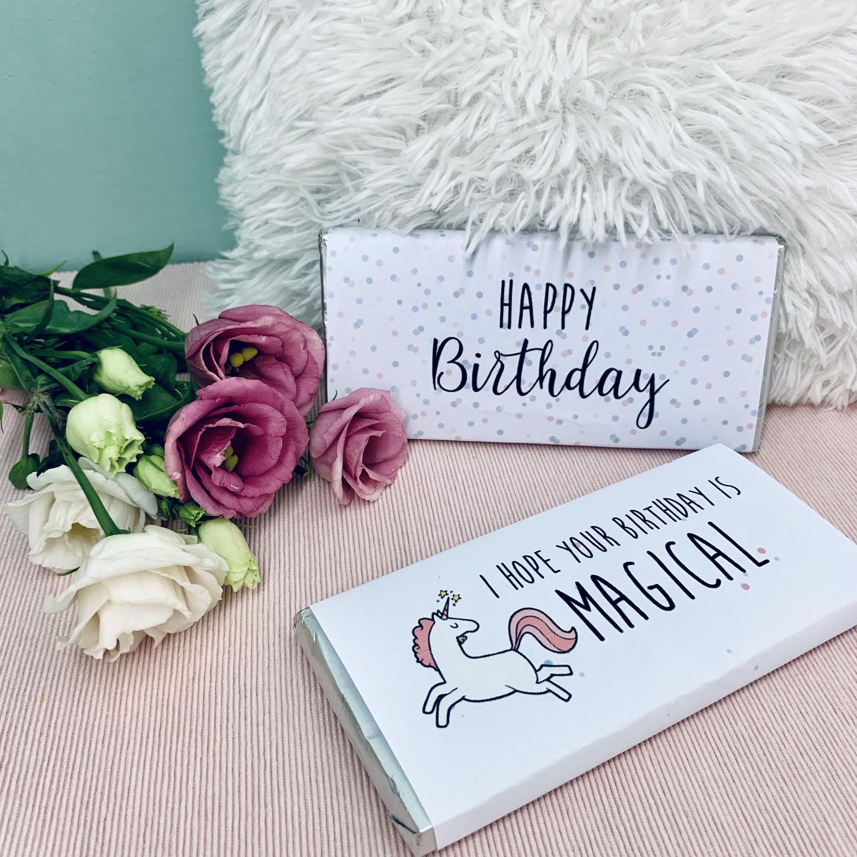 Geburtstag Schokoladentafeln