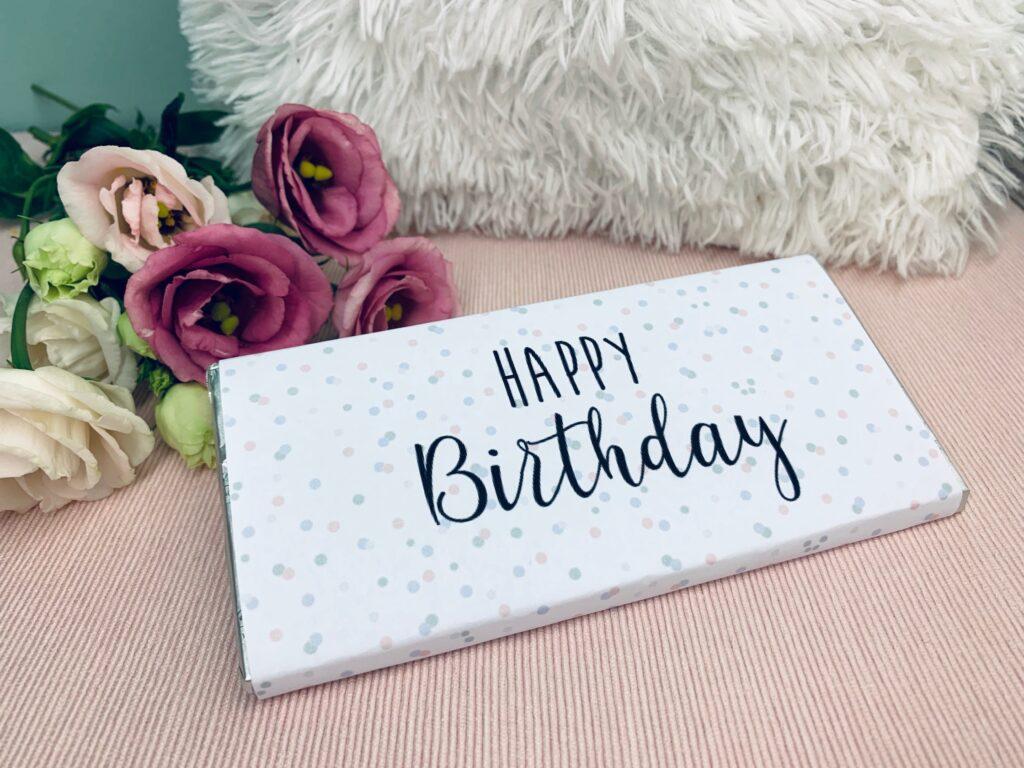 Happy Birthday - Geburtstag Schokoladentafel