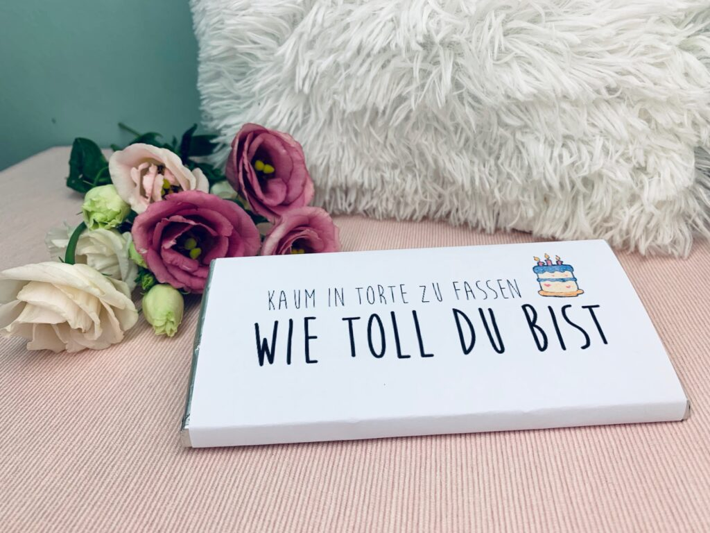 "Geburtstag Schokoladentafel ""Torte"""
