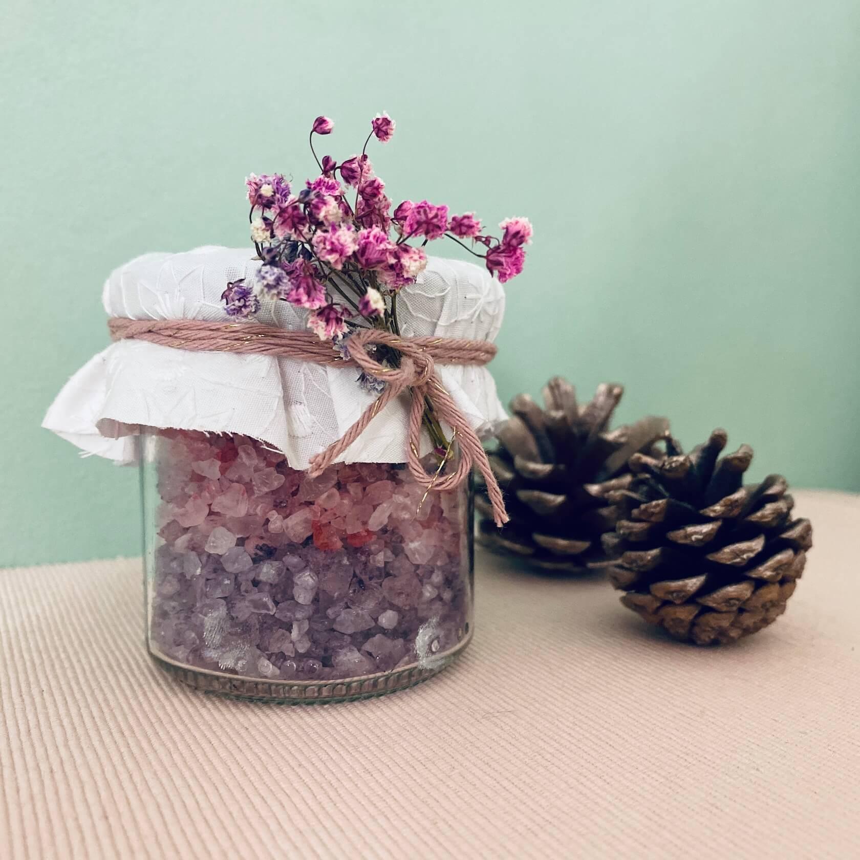 DIY Weihnachtsgeschenk Badesalz