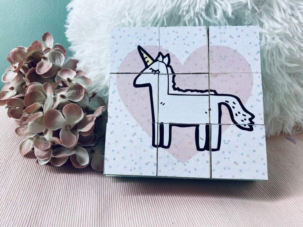 DIY Foto Holzwürfel Puzzle für Kinder