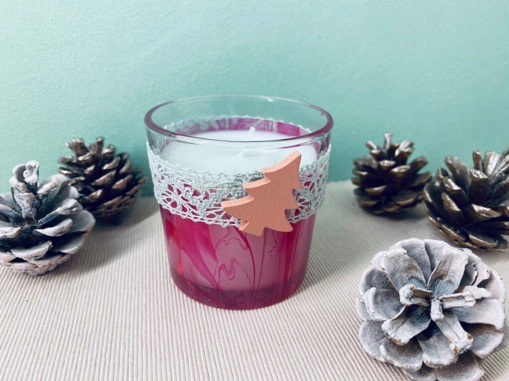 Kerze im Glas marmorisieren
