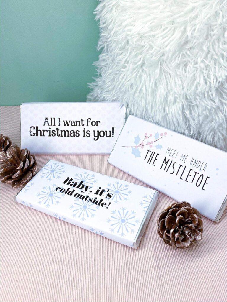 Geschenk Schokoladentafeln zu Weihnachten
