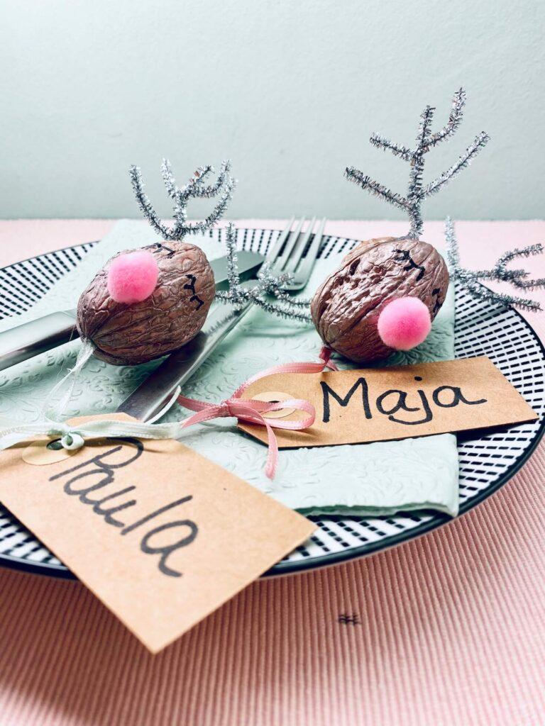 Rudolph Tischkarten zu Weihnachten