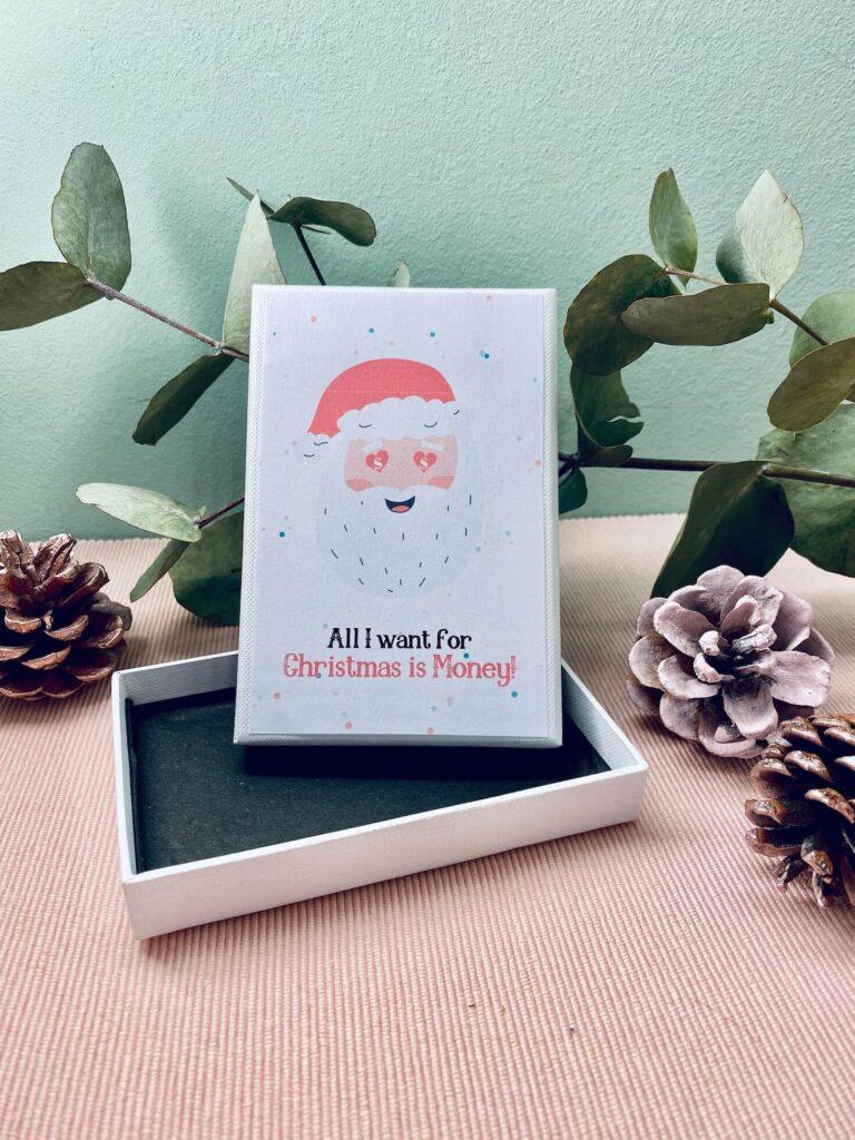 Geldgeschenk-Verpackung zu Weihnachten
