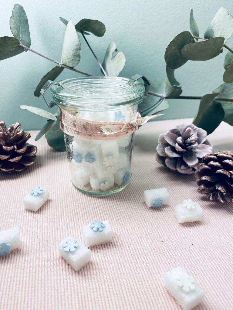 Winterzuckerwürfel zum Verschenken