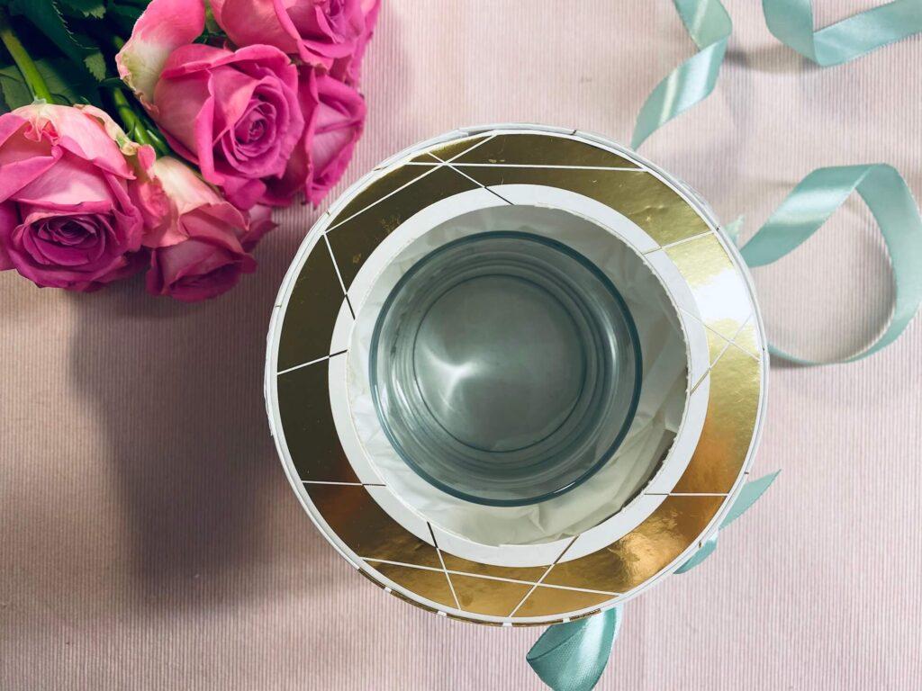 Glas für Rosenbox