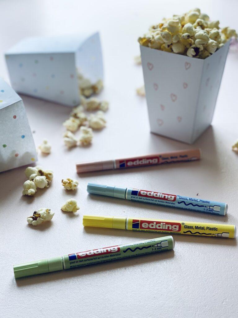 gefüllte DIY Popcorntüte