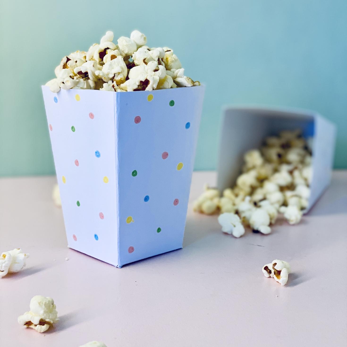 DIY Popcorntüte basteln