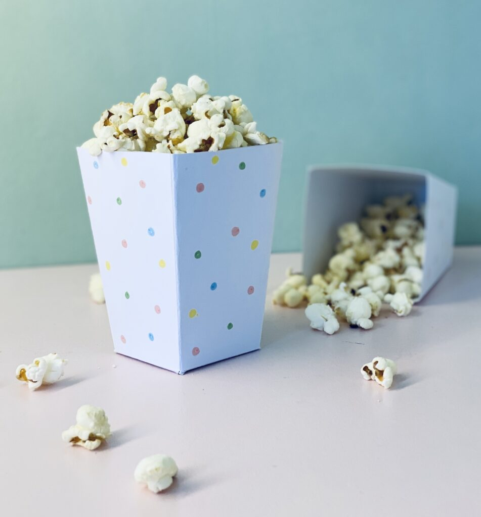 Popcorntüte selber basteln
