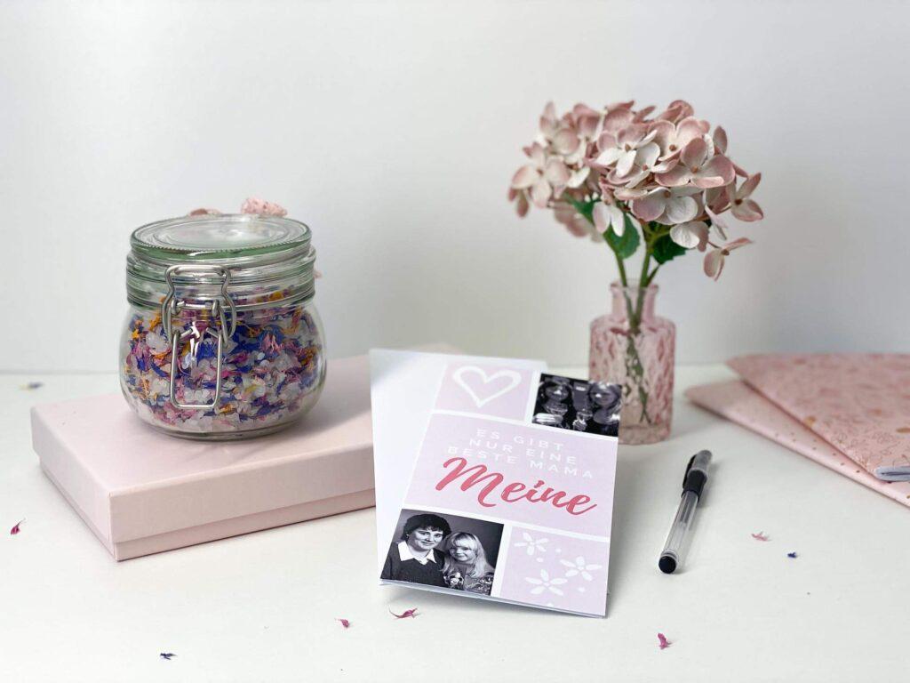 Muttertagskarte und -geschenk selber machen