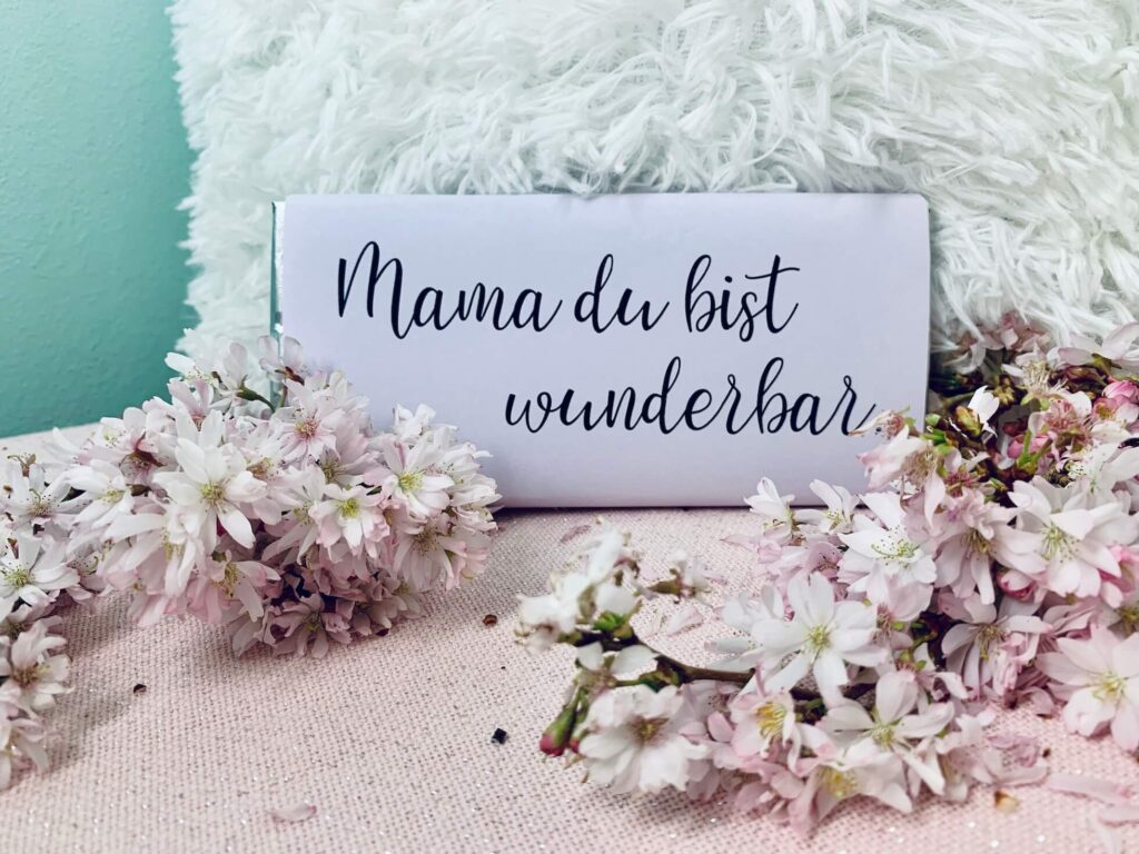 Wickel für Schokoladentafel Mama du bist Wunderbar
