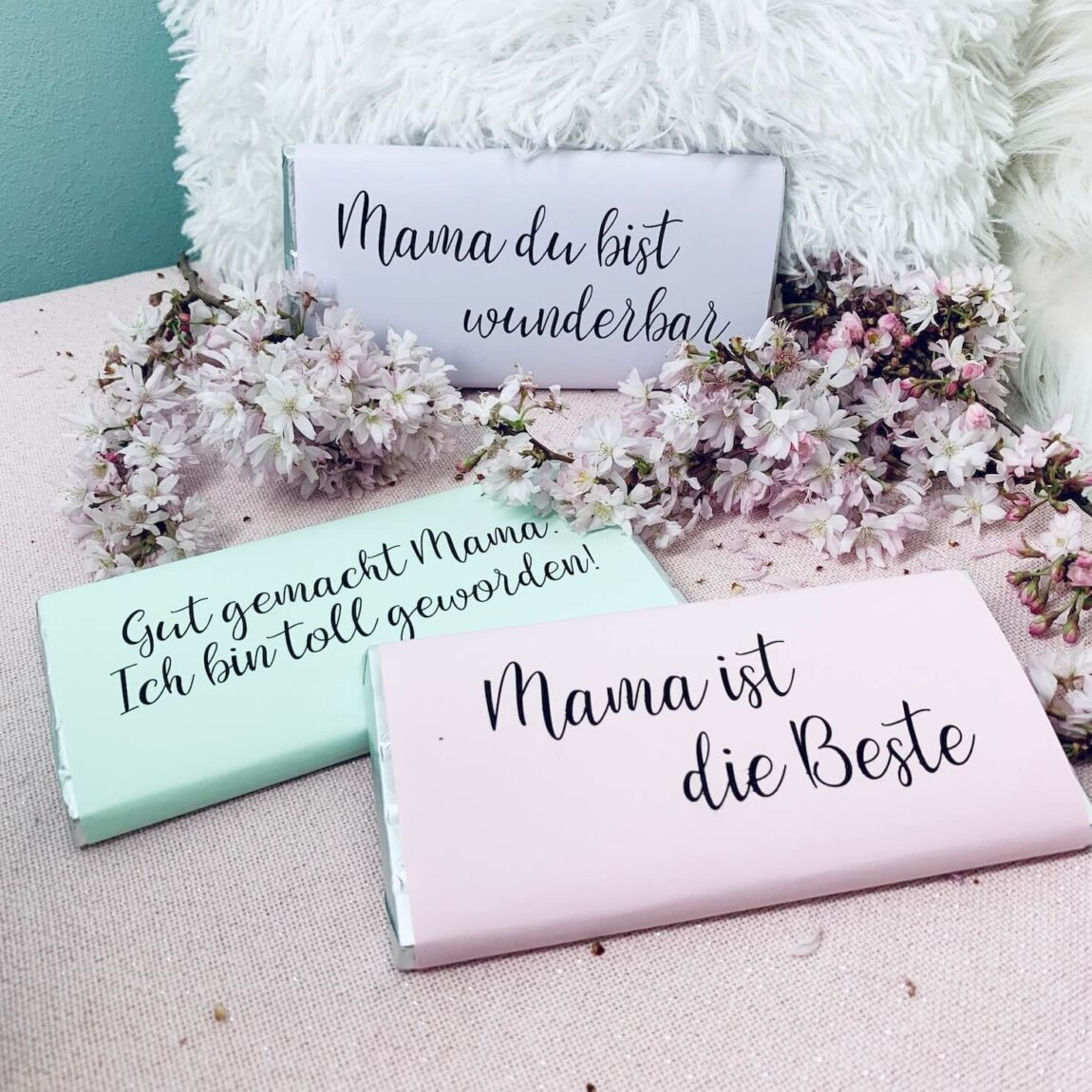 Schokolade verpacken zum Muttertag