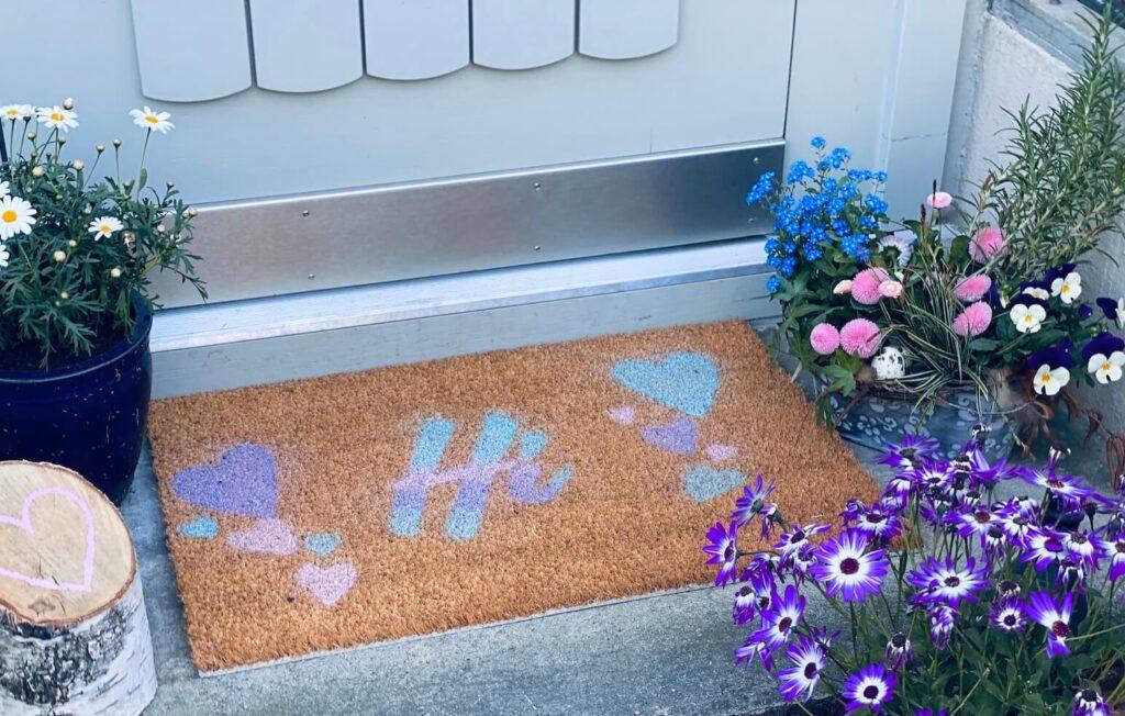 DIY Fussmatte vor Eingangstür
