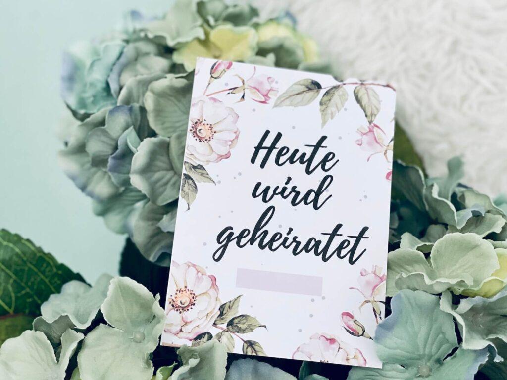 Hochzeitstag - Meilensteinkarten Hochzeit