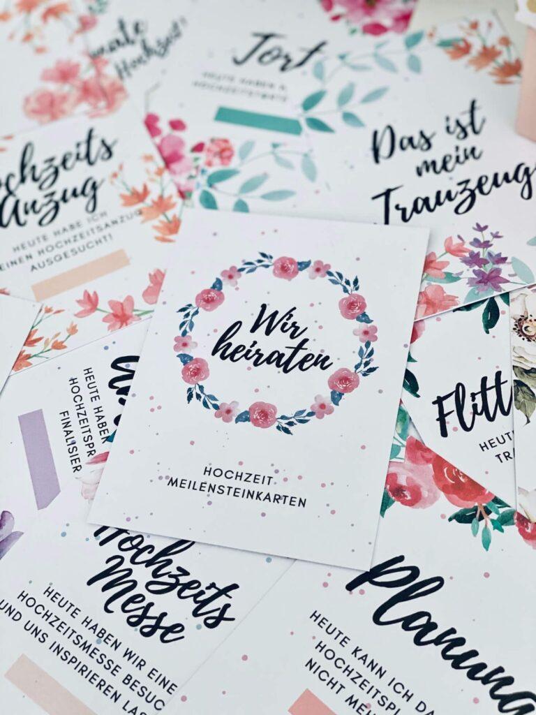 Meilensteinkarten Hochzeit 2