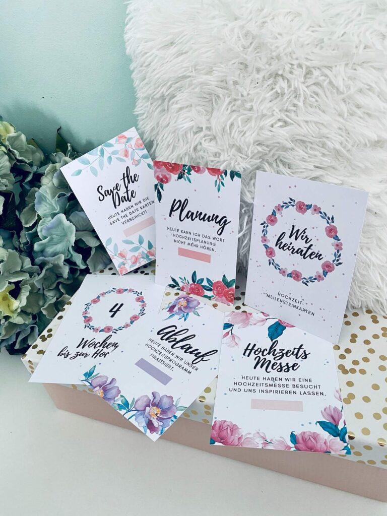 Meilensteinkarten Hochzeit 3