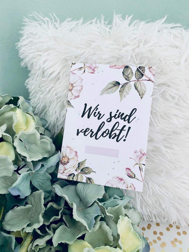 Verlobt - Meilensteinkarten Hochzeit