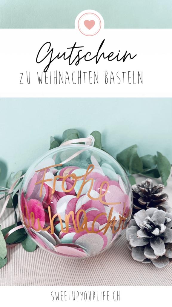 Pinterest Pin Gutschein zu Weihnachten verpacken
