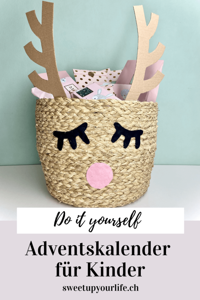 Pinterest Pin Rudolph Adventskalender für Kinder