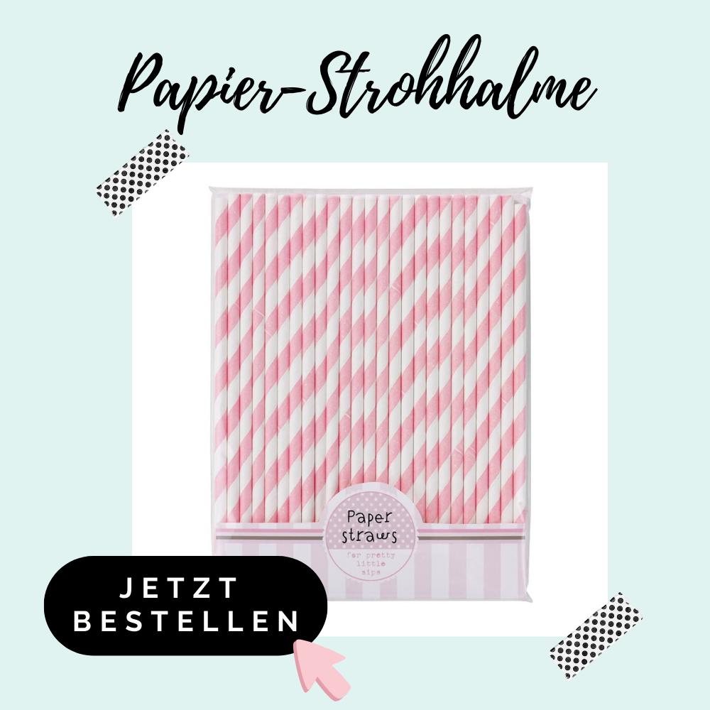 Papier Strohhalme