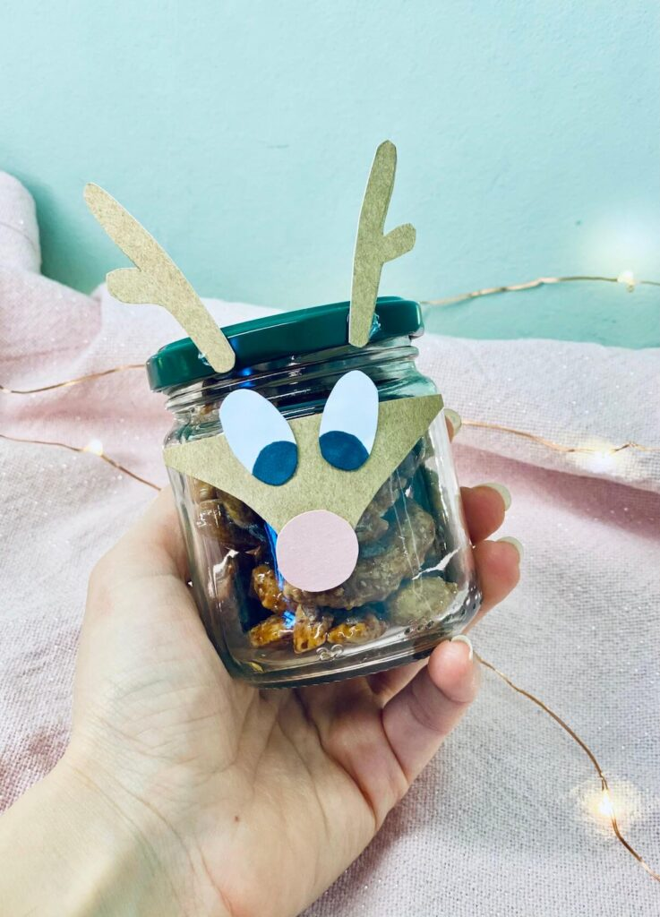 Geschenkidee: Süsses aus dem Rudolph Rentier Glas