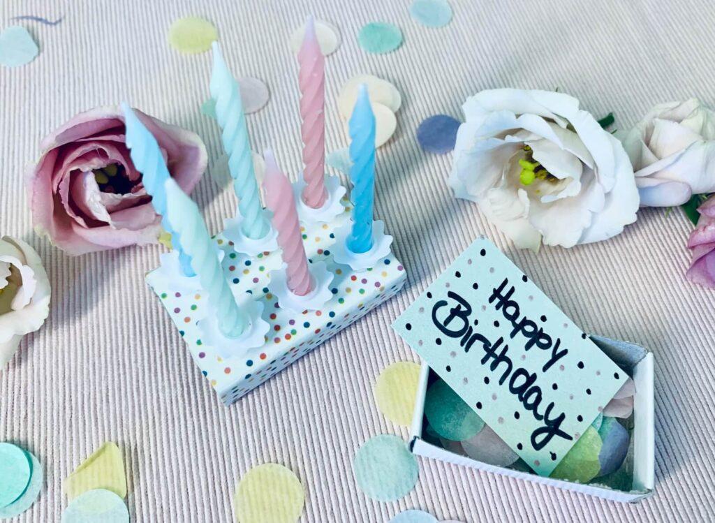 Geburtstagsgeschenk Fake Geburtstagskuchen