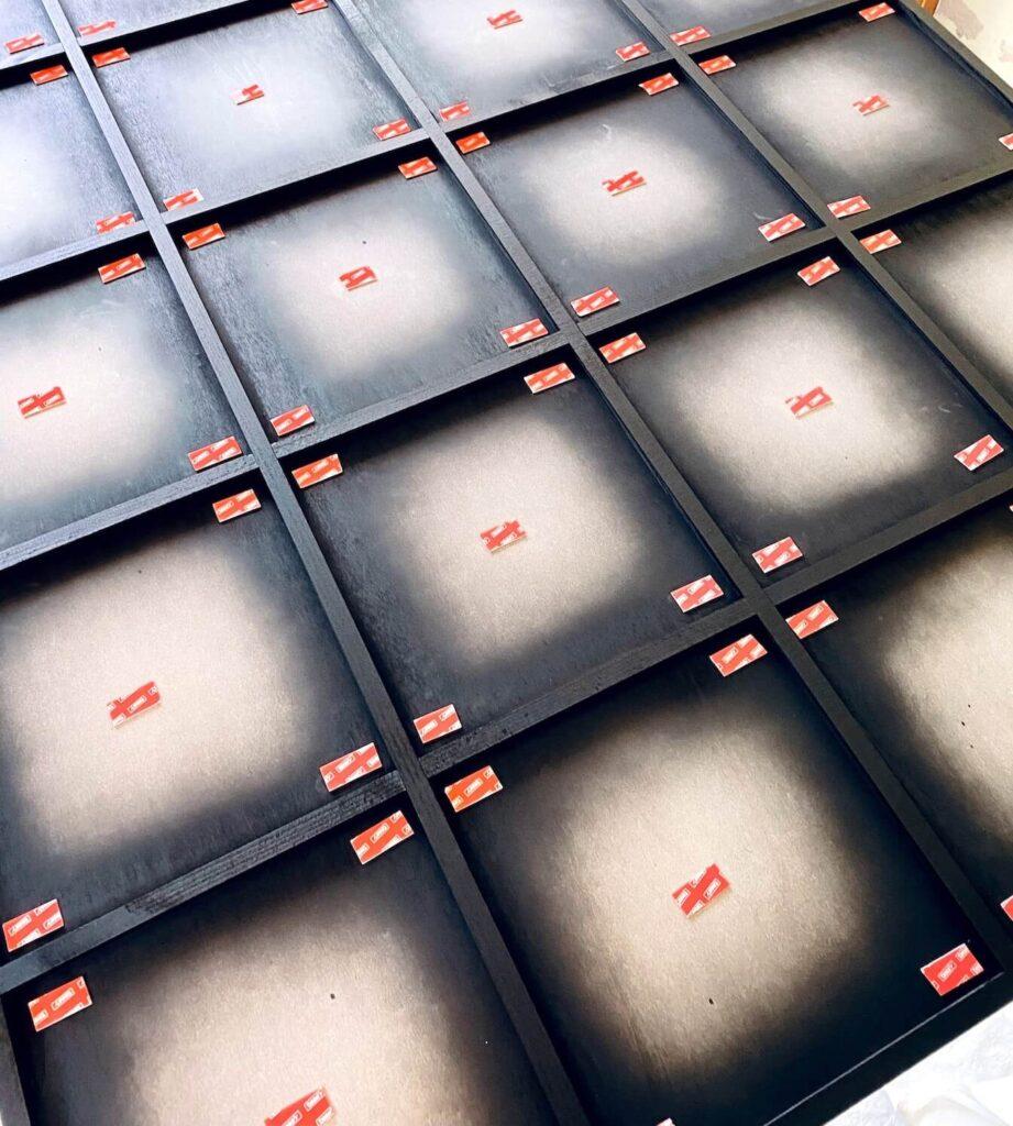 DIY Spiegel Industrial Spiegel ankleben