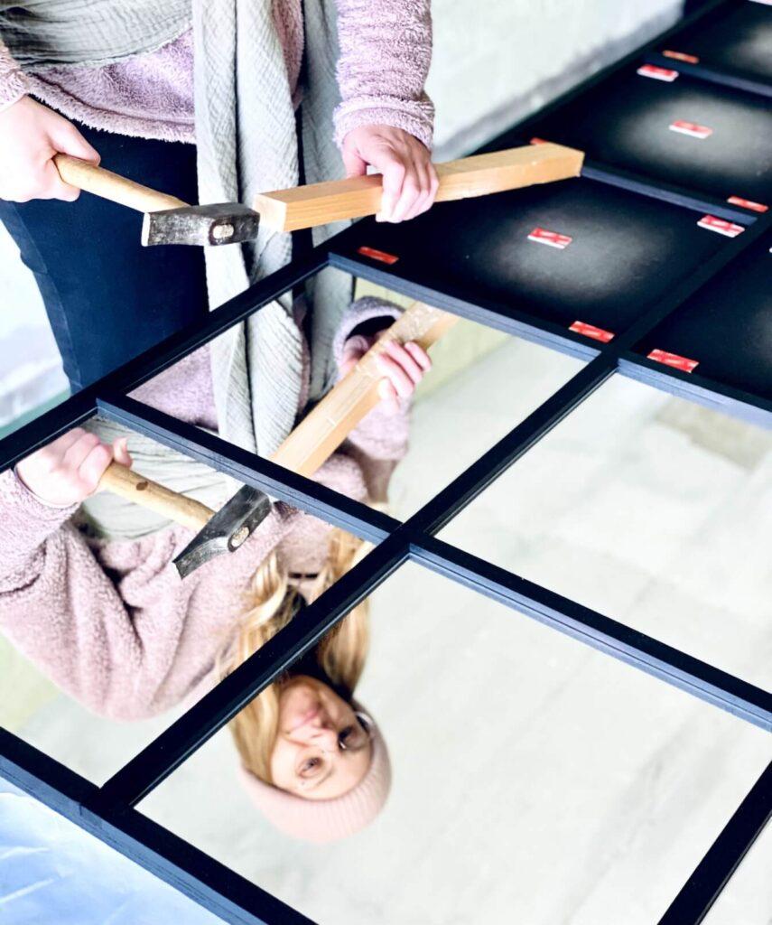 DIY Spiegel Industrial Spiegel integrieren