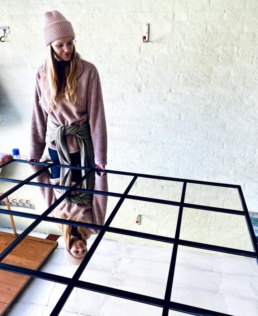DIY Spiegel im Industrie Stil