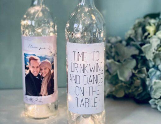 Flaschenlichter selber machen