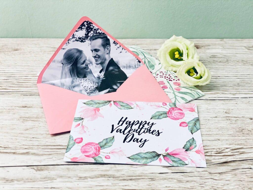 Foto Briefumschlag zum Valentinstag