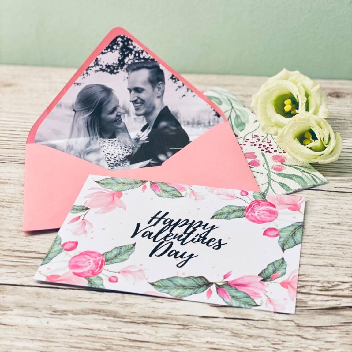 Fotogeschenk - Valentinstagskarte Selbermachen