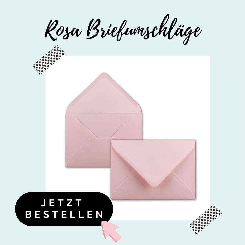 rosa Briefumschläge