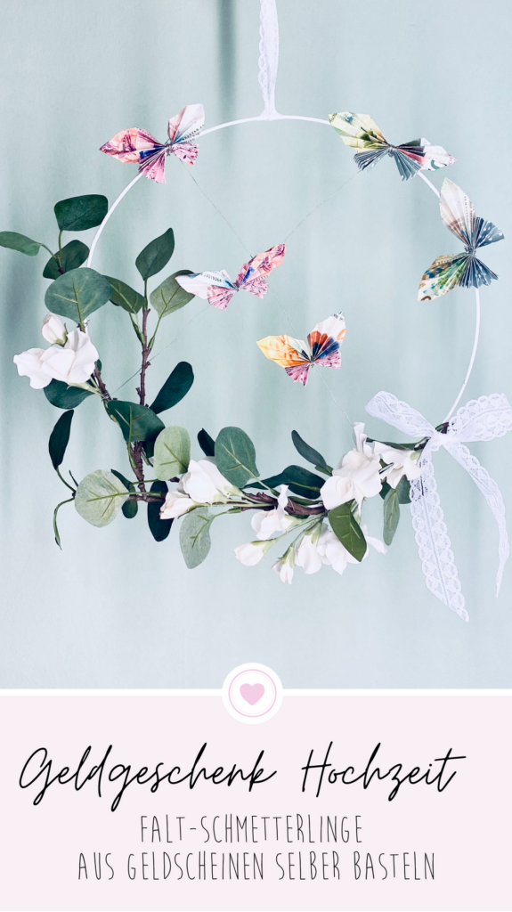 Pinterest Geldgeschenk Hochzeit - Schmetterlinge falten