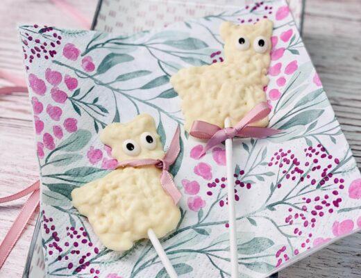 Alpaka-Schokoladen-Lollies selber machen