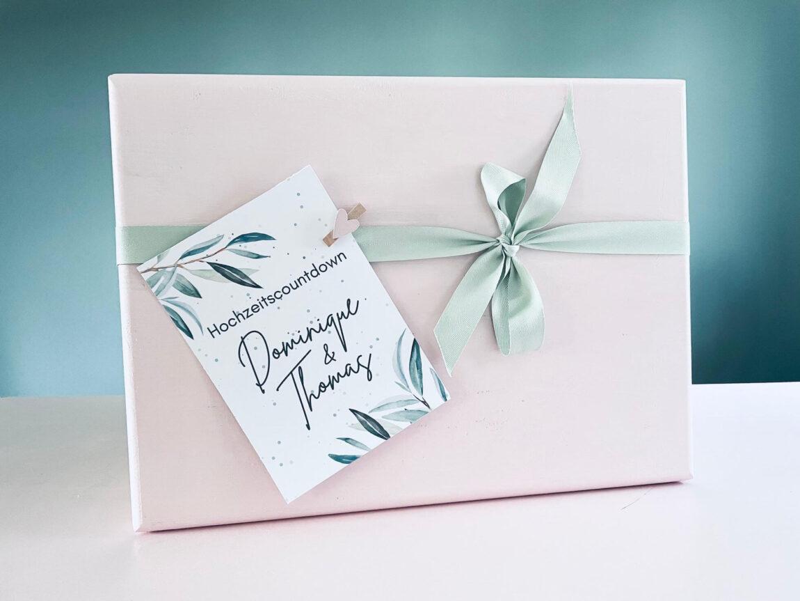 Hochzeitscountdown Box