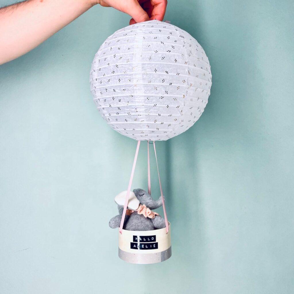 Geburtsgeschenk Heissluftballon